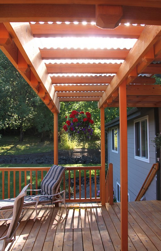 Clear Covered Deck